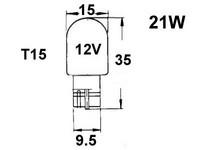 Polttimo 21W, T15