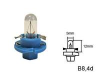 Polttimo, kanta Sininen Teho: 1.2W, B8.4D