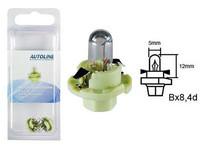 Polttimo, kanta vaalea vihreä (2kpl) 2W, Bx8.4D