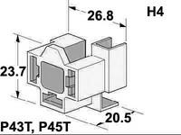 Lampunkanta H4-polttimolle, koottava malli, P43T ja P45T