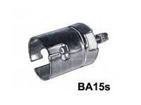 Lampunkanta BA15S, metallia, ruuviliitin (1)