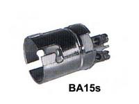 Lampunkanta BA15S, metallia 2-ruuviliitintä