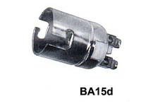 Lampunkanta BA15D, metallia, 2-ruuviliitintä