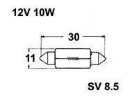Polttimo 10x31mm 10W, SV8,5