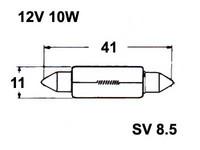 Polttimo 11x41mm 10W, SV8,5