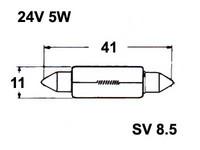 Polttimo 11x41mm 5W, SV8,5