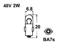 Trukkipolttimo 48V 2W, BA7S
