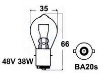 Trukkipolttimo 48V 35W, BA20S