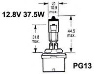 Halogenpolttimo 37.5W, (PG13)