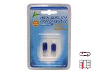 Lasikantapolttimopari 5W, (T10) Sininen