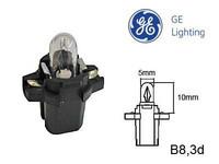 Polttimo 1.2W (B8.3D /9.5mm) kanta musta GE