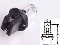 Polttimo 5W (B10D) minihalogen, kanta musta