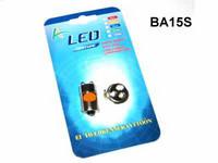 LED Polttimopari BA15s oranssi