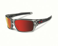 Oakley Turbine grey ink, ruby iridium polarized lens