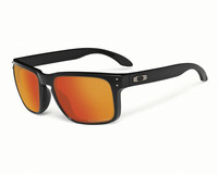 Oakley Holbrook matte black, ruby iridium polarized lens