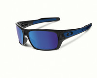 Oakley Turbine polished black, blue mirror lens