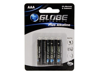 Globe Batteries Plus Alkaline AAA 4kpl
