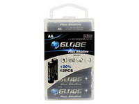 Globe Batteries Plus Alkaline AA 12kpl