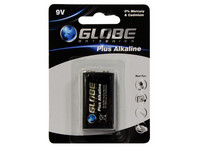 Globe Batteries Plus Alkaline 9V 1kpl