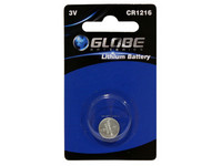 Globe Batteries Lithium CR1216 nappiparisto 1kpl