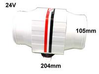 Tunnelipuhallin, 24V 5A, 6500ltr/min