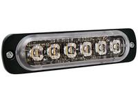 Superohut LED-tasovilkku vaaka- asennus keltainen