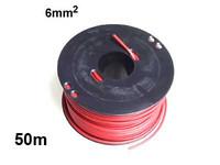 Autojohto 6mm2 50m punainen