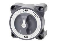 ON-OFF Akkukytkin laturin diodien suojaustoiminto, kiinnitysväli 76mm, vahvistettu, mitat  98x98mm
