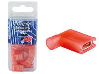 Lippuliitin 6.3mm naaras, punainen, suojattu, Blister, Pakkauksessa 10 kpl