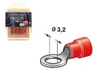 Lenkkiliitin Ø3.2mm, punainen, Blister, Pakkauksessa 100 kpl