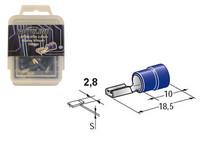 Lattaliitin 2.8mm naaras, sininen, Blister, Pakkauksessa 100 kpl