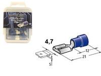 Lattaliitin 4.7mm naaras, sininen, Blister, Pakkauksessa 100 kpl