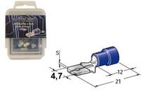 Lattaliitin 4.7mm uros, sininen, Blister, Pakkauksessa 100 kpl
