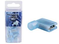 Lippuliitin 6.3mm eristetty, naaras, sininen, Blister, Pakkauksessa 10 kpl