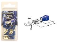 Lattaliitin 8.0mm naaras, sininen, Blister, Pakkauksessa 10 kpl