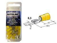 Lattaliitin 6.3mm naaras, keltainen, 10kpl rasia