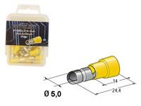 Pyöröliitin 5mm, keltainen, 50kpl rasia
