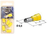 Pyöröliitin 5mm, keltainen, 10kpl rasia