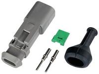 Liitinsarja Deutsch 2-pin. urosliittimin (0.5-1.5mm²), DT-srj,