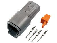 Liitinsarja Deutsch 4-pin. urosliittimin (0.5mm²), DTM-srj
