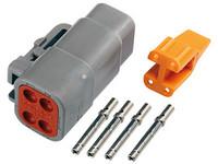 Liitinsarja Deutsch 4-pin. naarasliittimin (0.5mm²), DTM-srj
