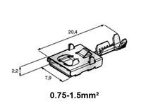 Liitin 7.9mm naaras, F630E 0.75-1.5mm² johdolle