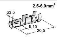 Liitin naaras 2.5-6.0mm² johdolle