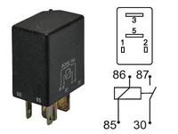 Mikrorele 24V 10A, 4-napaa