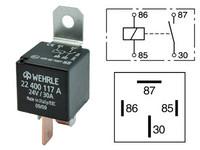Kytkentärele 24V, 30A, 4-napainen