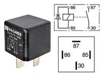 Kytkentärele 24V, 30A, 4-napainen diodilla