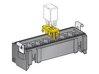 Mikroreleenpohja 7:lle mikroreleelle, jatkettava