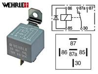 Kytkentärele 5-napainen 12V 20/30A diodilla