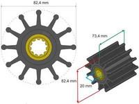 Siipipyörä, HD 82.4x20x73.4mm, 507g