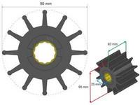 Siipipyörä, HD 95x25x63mm, 474g